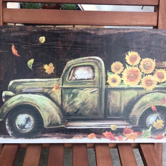 Ganz Other | Sunflower Truck Wall Art | Poshmark